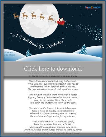 Printable of 'Twas the Night Before Christmas
