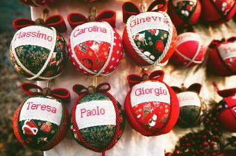 Handcrafted christmas balls