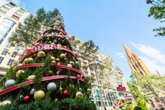 Christmas tree in Melbourne city, Australia