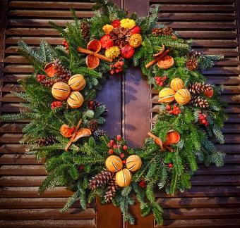 Wreath in Colonial Williamsburg, Virginia