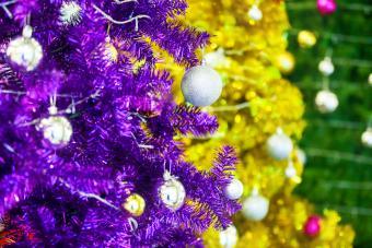Colored Aluminium Christmas Trees