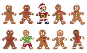Collection of various gingerbread men