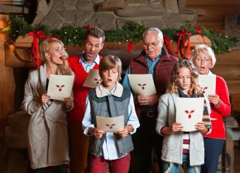 Family singing carols