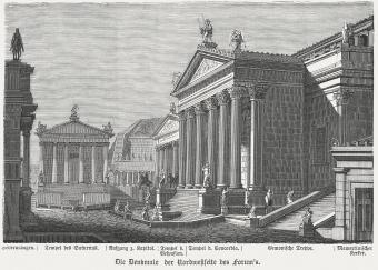 Buildings of the Roman Forum in ancient Rome