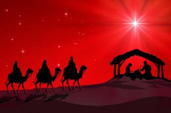Three Wise Men Nativity Scene