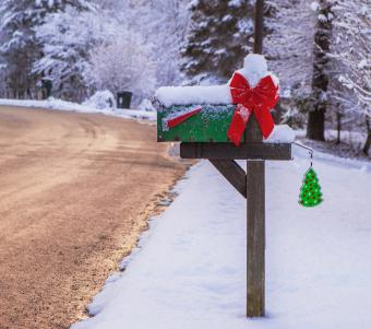 Mailbox with mail order catalogs