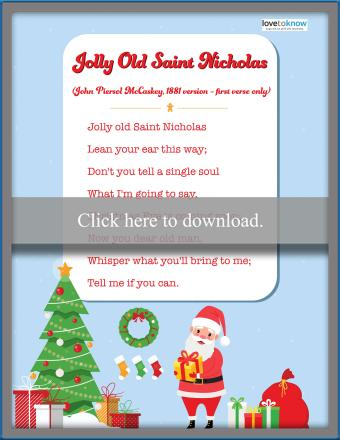 Jolly Old Saint Nicholas Lyrics