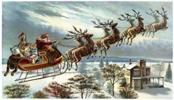 Framed Victorian Christmas Scenes