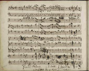 Messiah-autograph composition draft-Amen Chorus
