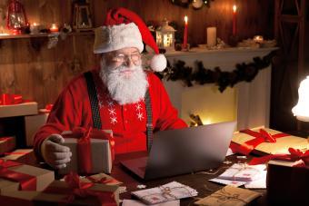 Happy old Santa Claus
