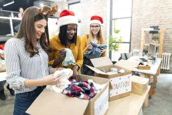 Celebrating Christmas on work and collecting donations