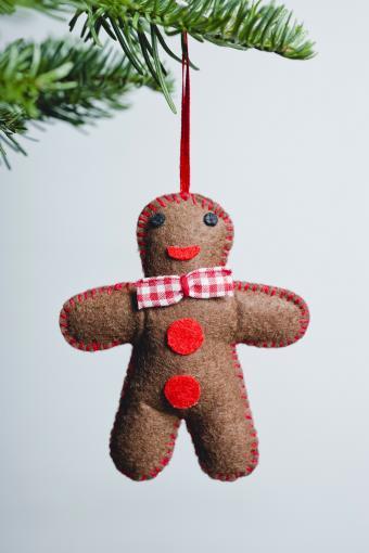 Gingerbread man Christmas felt ornament