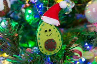 Felt Avocado Christmas Ornament