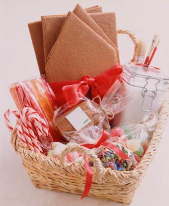 DIY Gingerbread House Christmas Gift Basket