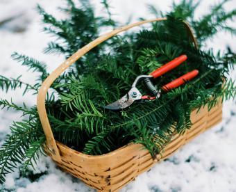 Basket of Wreath-Making Supplies