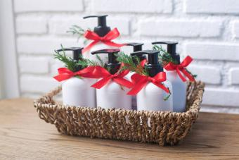 Handmade Holiday Soap and Lotion Gift Basket