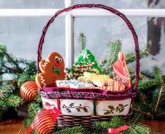 Sweet Christmas Cookie Gift Basket