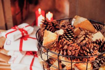 Christmas Fire Starter Gift Basket