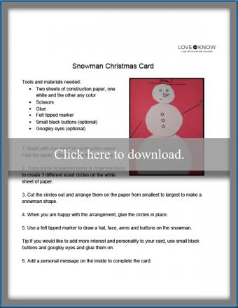 snowman card craft