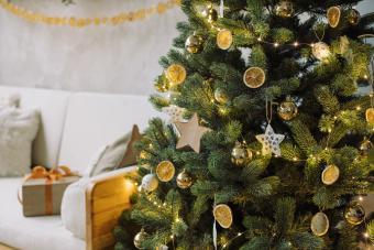 Illuminated Handmade Christmas Decoration At Home