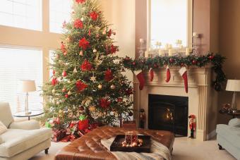 Pretty Poinsettia Christmas Tree