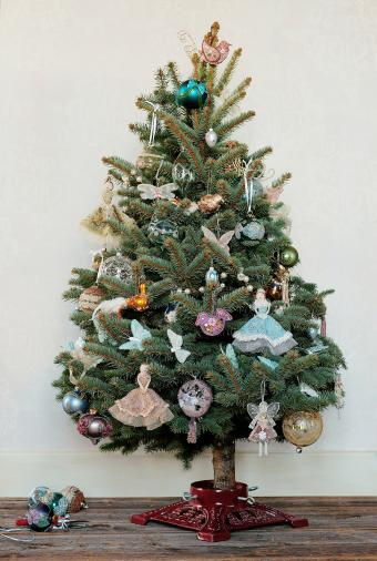Small Christmas tree with fairies and butterflies