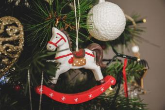Wooden rocking horse, Christmas ornament