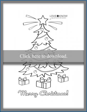 Tree Christmas card