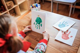 Christmas Crafts Using Handprints