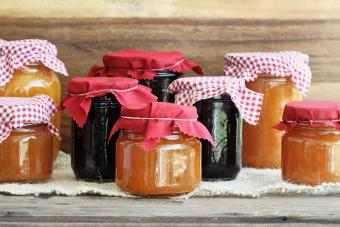 Jars of a Variety of Homemade Jam