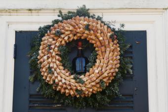 Corks & Wine Bottle Wreath
