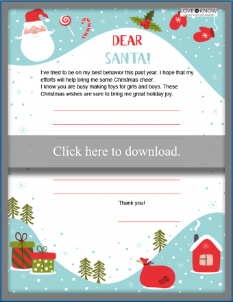 Santa letter with room for wishes