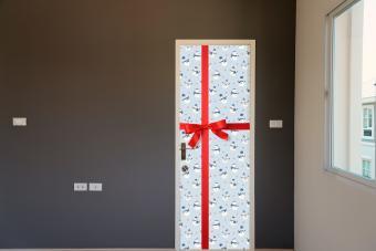 Snowman door for dorm room