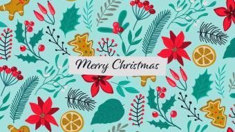 Illustrated Christmas wallpaper - desktop