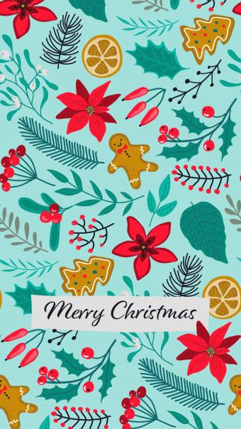 Illustrated Christmas wallpaper - mobile