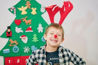 Boy with Reindeer Ears
