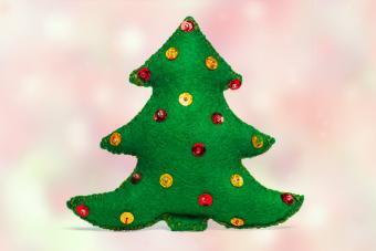 Christmas tree handmade toy
