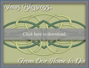 Celtic Christmas Blessings Card