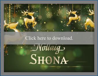 Traditional Irish Christmas Card