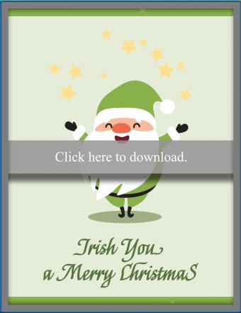 Cartoony Irish Christmas Card