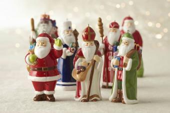 vintage porcelain santa ornaments