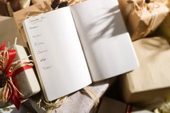 Christmas list with names