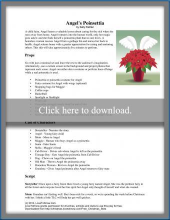 printable Christmas play Angel's Poinsettia
