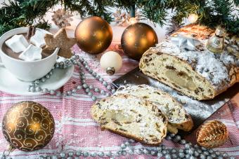 traditional Dutch kerststol Christmas bread