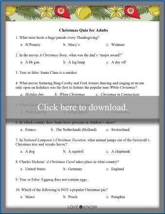 printable Christmas quiz for adults