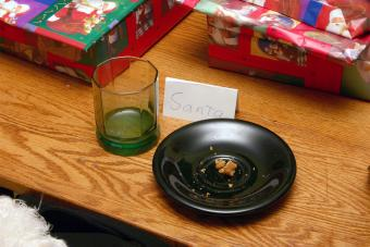 empty plate of milk and cookies for Santa