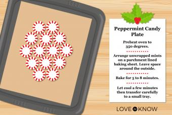 infographic recipe peppermint candy plate
