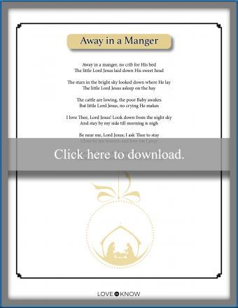 Christmas song lyrics Away in a Manger