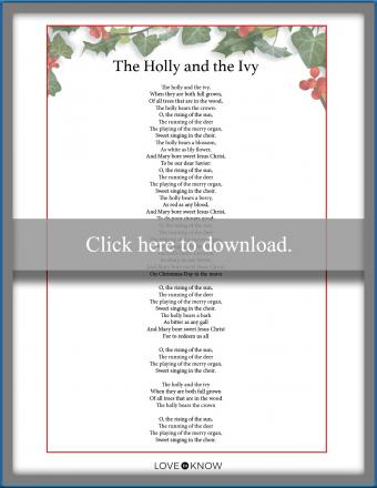 Christmas Carol The Holly and the Ivy