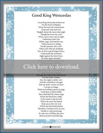 Christmas song lyrics Good King Wenceslas